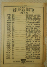 Film Releases of 1934, trade ad, Public Enemy